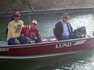 L to R: Mike, Scott and Charlie Fishing